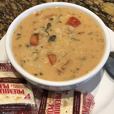Warm Up With One Of Our Great Soups By The Summit Cafe